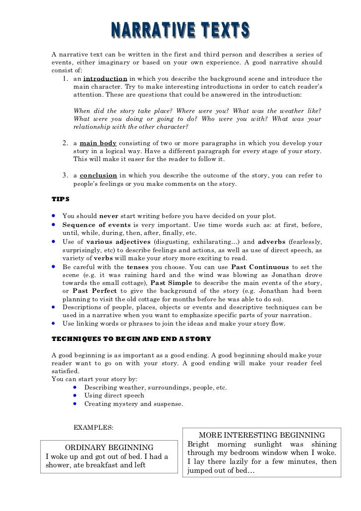 how to write a thesis for a narrative essay