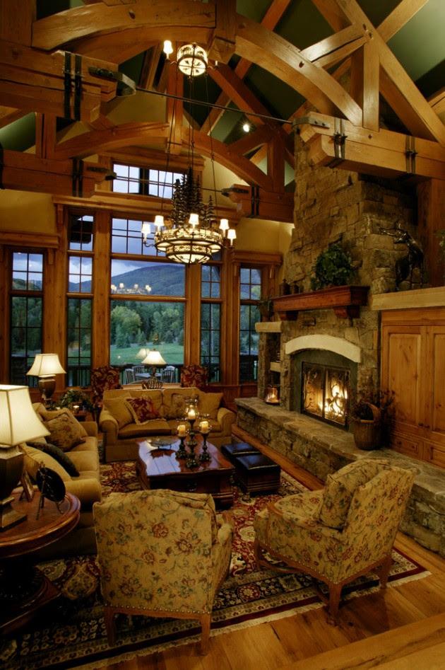 15 Warm  Cozy Rustic Living Room Designs For A Cozy Winter