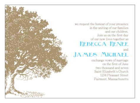 Printable Wedding Invitations   Antique Tree Engraving Print