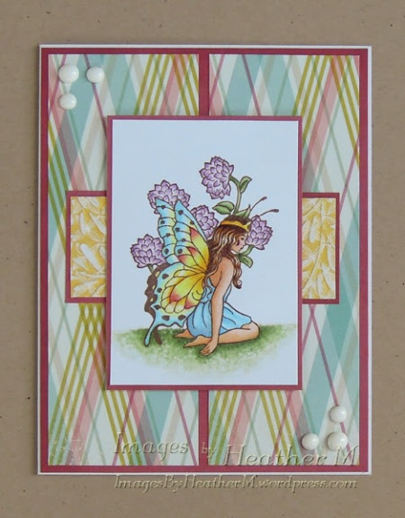 """HeatherM using Faerie Song Art Stamps rubber stamp from the """"Make a Wish"""" plate"""