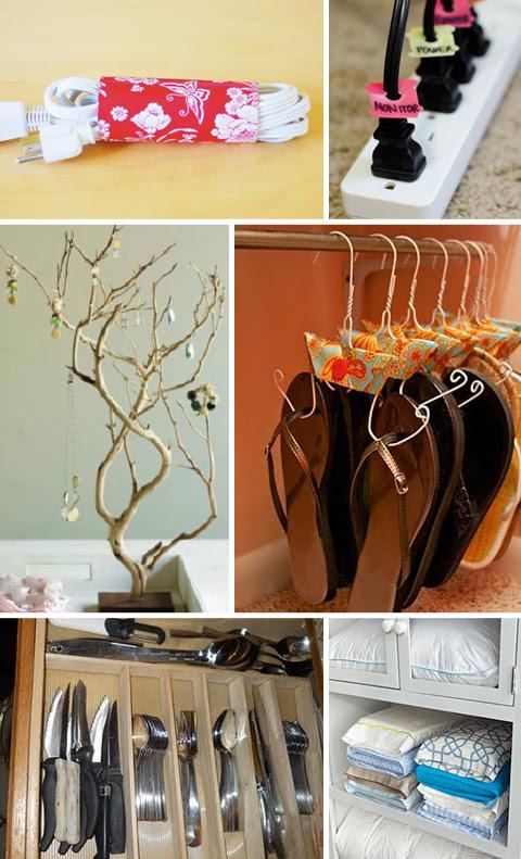 Organize com objetos domésticos grátis
