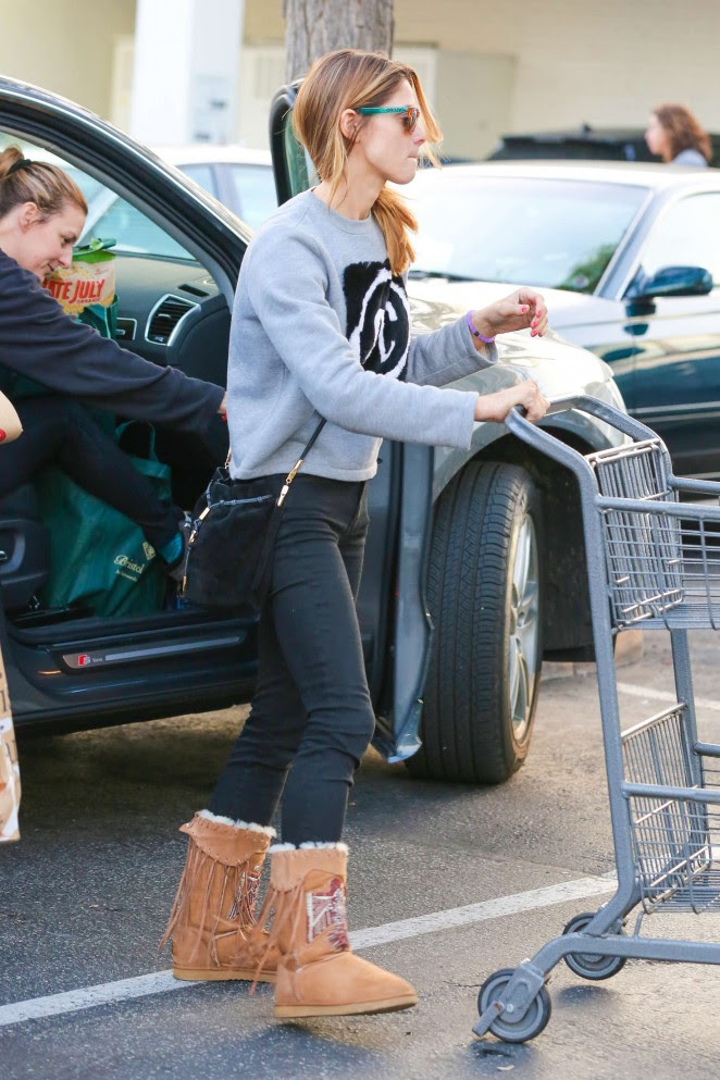 Ashley Greene in Tights at Bristol Farms -14