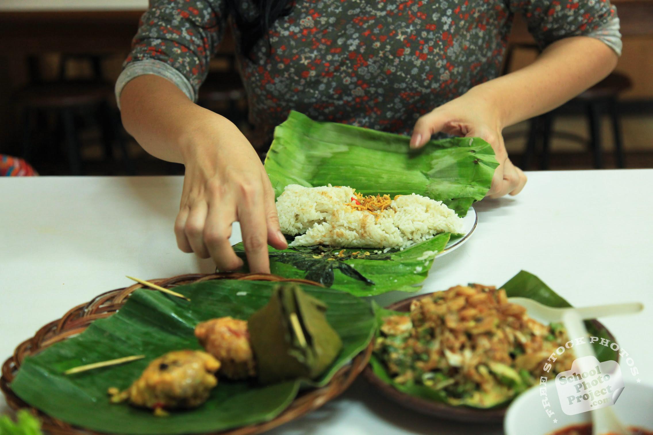 Preparing Food, FREE Stock Photo, Image, Picture: Preparing Sundanese Food, Royalty-Free Food