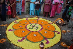 Rangoli to Goddess Jari Mari Mata by firoze shakir photographerno1
