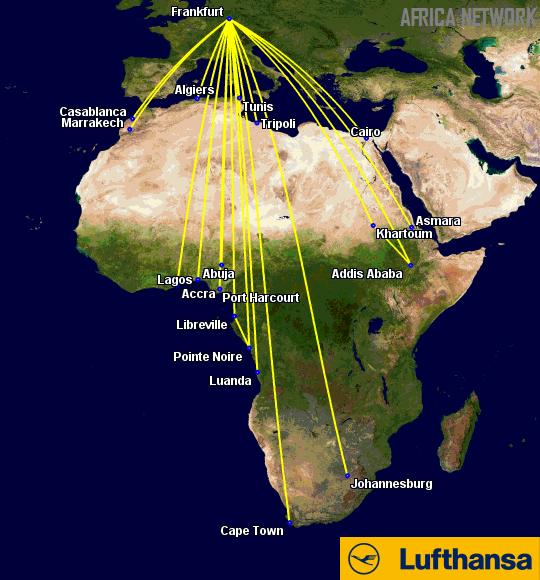 Lufthansa's Africa Routes