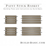 Build a Paint Stick Basket - Building Plans by @BuildBasic www.build-basic.com