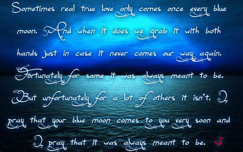 Blue Moon Love Quotes