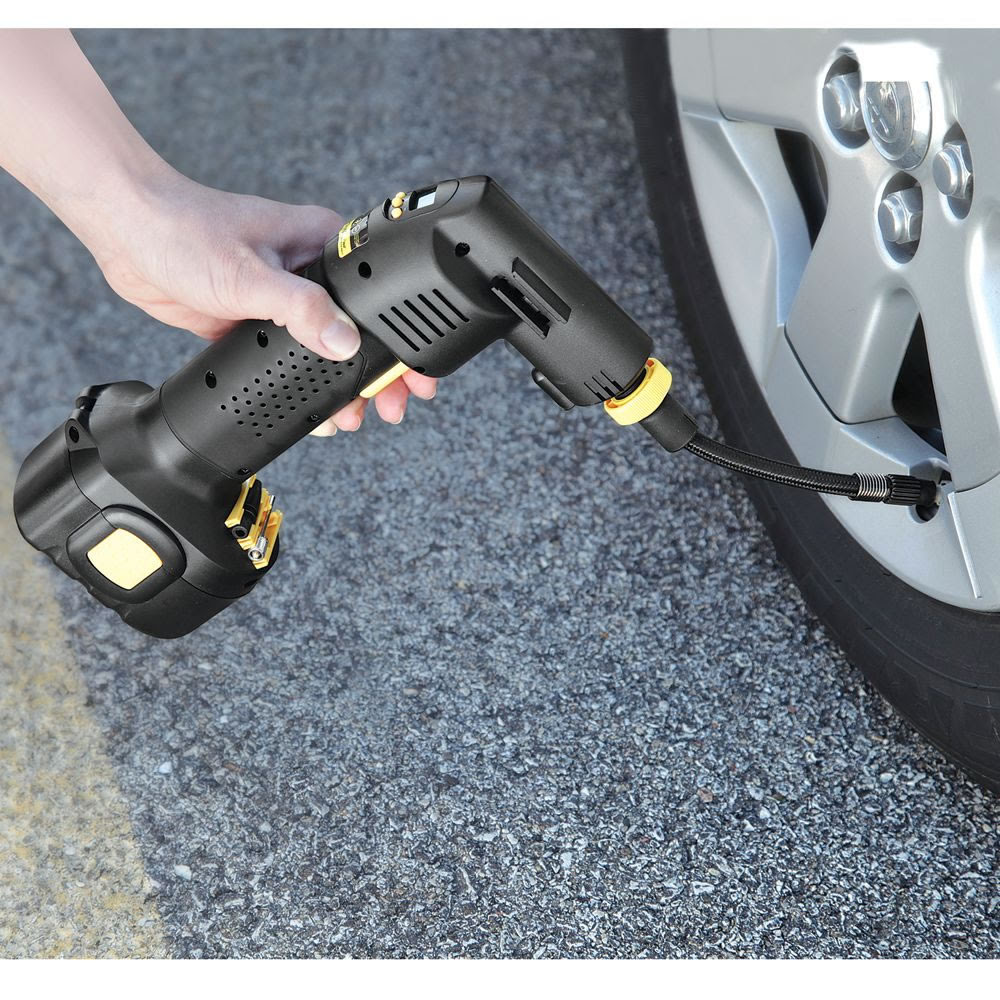The Only Automatic Cordless Tire Inflator Hammacher Schlemmer
