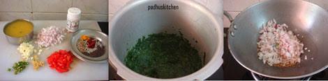 ingredients for dal palak recipe