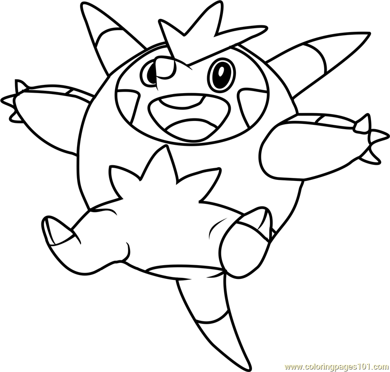 Powerful Pokemon Coloring Pages Black And White   Sigilyph   Free   763x800