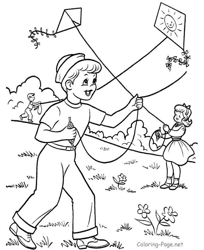 Kite Coloring Page at GetDrawings   Free download