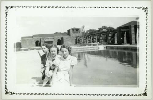 Trio by pool