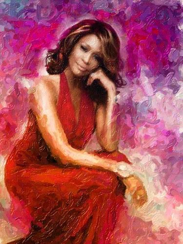 Whitney Houston Oil Painting