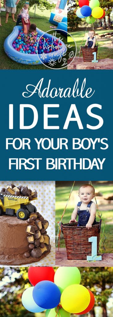 Adorable Ideas For Your Boys First Birthday