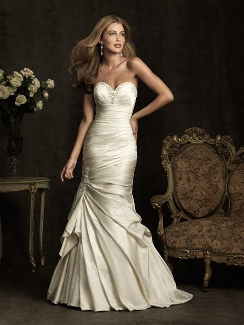 2014 New Design Sexy Mermaid Satin Wedding Dresses Crystal