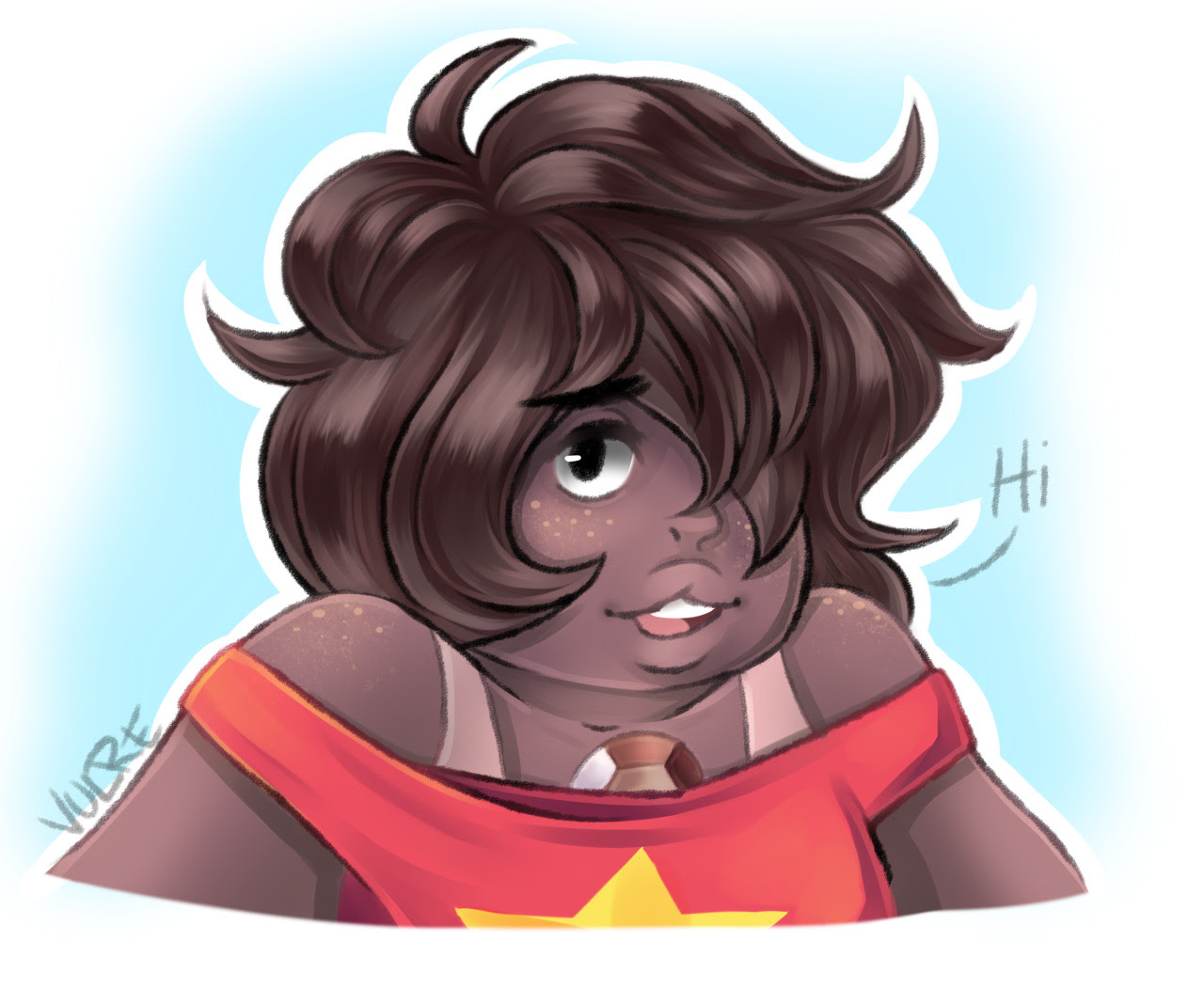 I had to draw Smoky Quartz, couldn't resist!