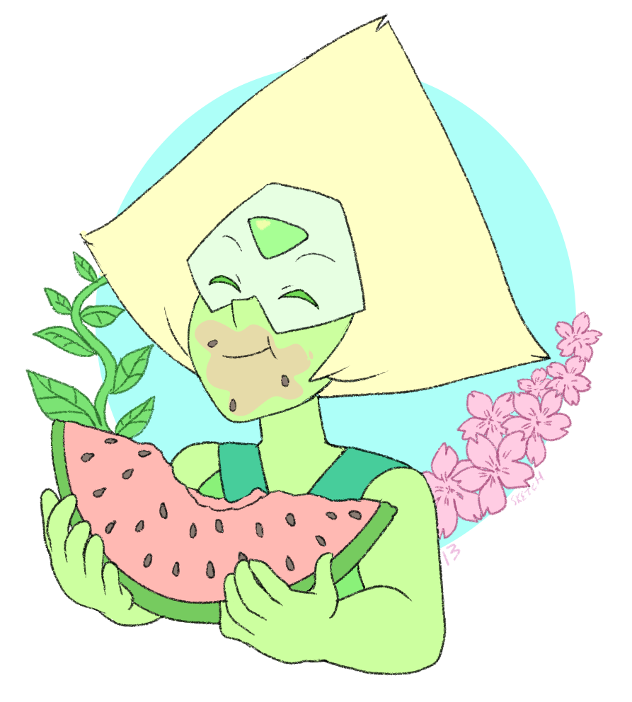 month of Peridot - day 13 sweet summer melon days