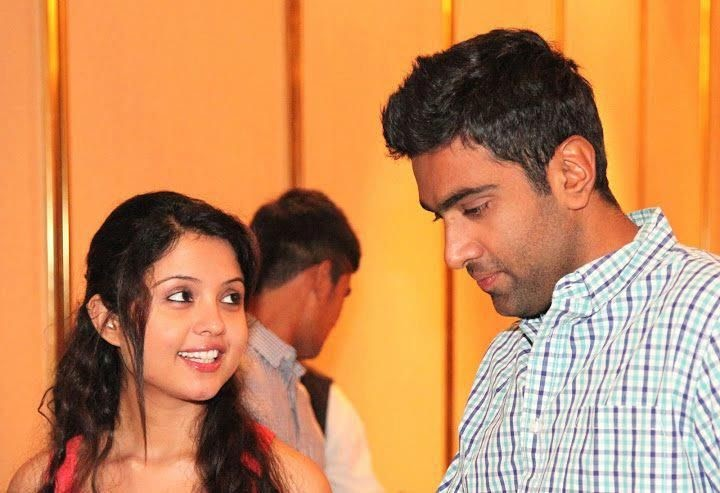 Ashwin With His Wife / My wife turned to me as we were