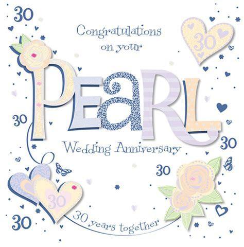 Handmade Pearl 30th Wedding Anniversary Greeting Card