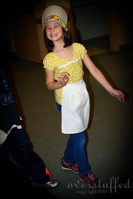Happy Little Pilgrim Girl
