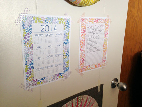 Dreamin Vintage 2014 Printable Calender & Crafty Goals List by Jeni Baker