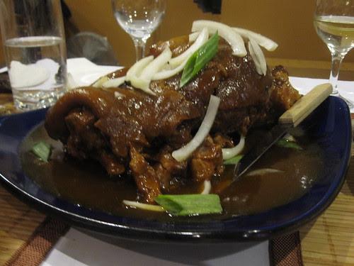 Humba- braised pork knuckle