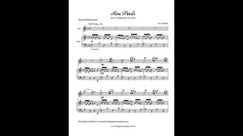 Rose Petals   Flute Sheet Music Video   Instrumental
