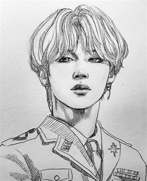 bts anime drawing pictures  pin  pinterest pinsdaddy