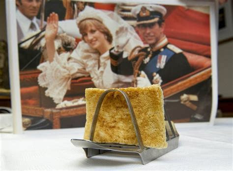 Slice of toast taken from Charles and Diana's wedding day