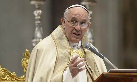 Pope Francis leads a mass at St Peter's basilica