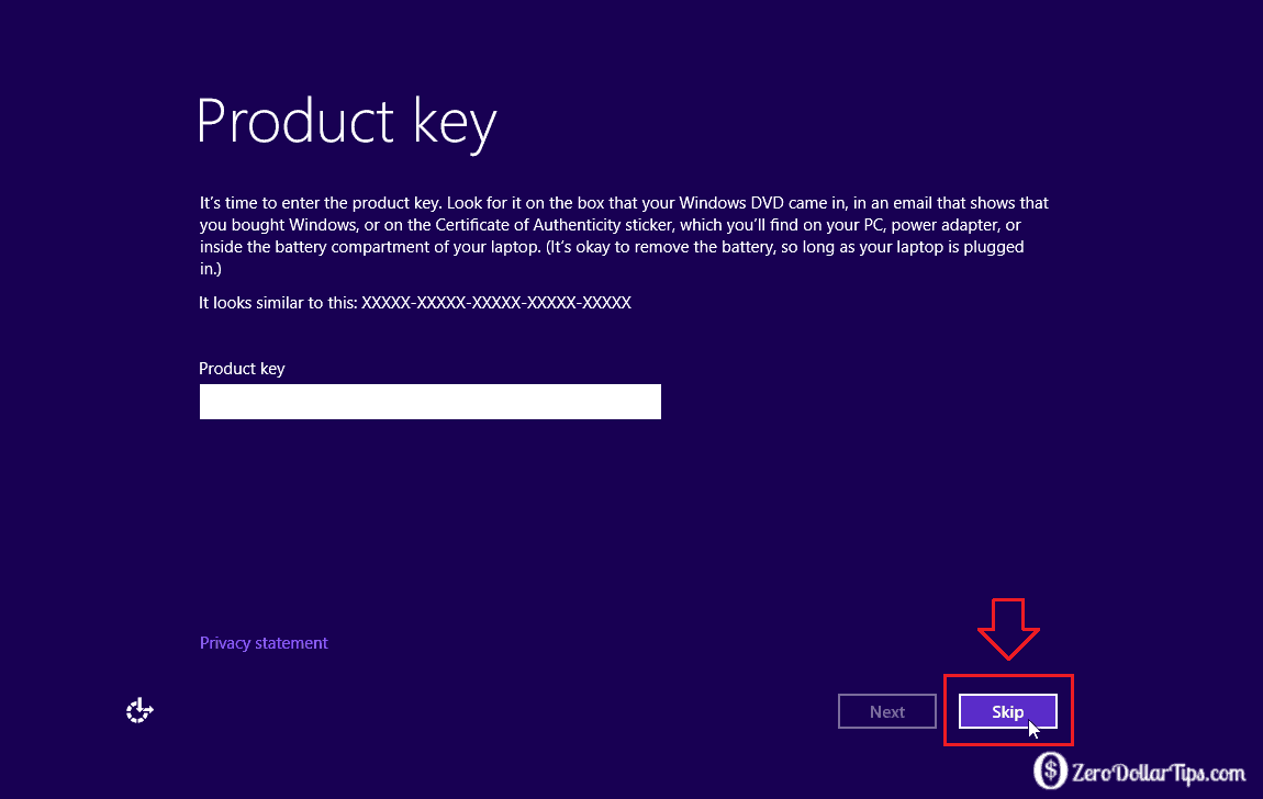 Install Windows 8 or Windows 10 without Product Key
