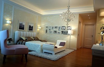 Home Interior Design: Elegant Bedroom 3Ds Max Model - Sajid Designs: Guest Room Interior Design 3ds Max
