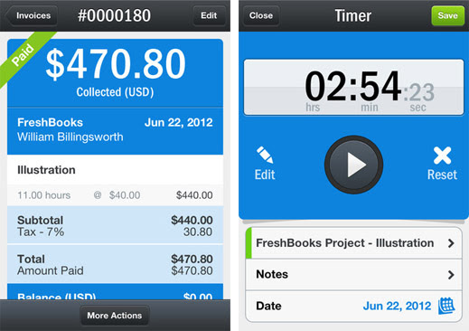 FreshBooks gets an iPhone app