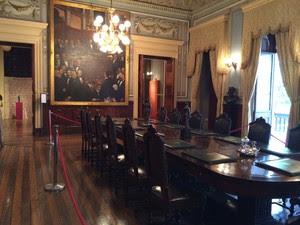 Sala ministerial no Palácio do Catete - Getúlio Vargas (Foto: Marcelo Elizardo/G1)