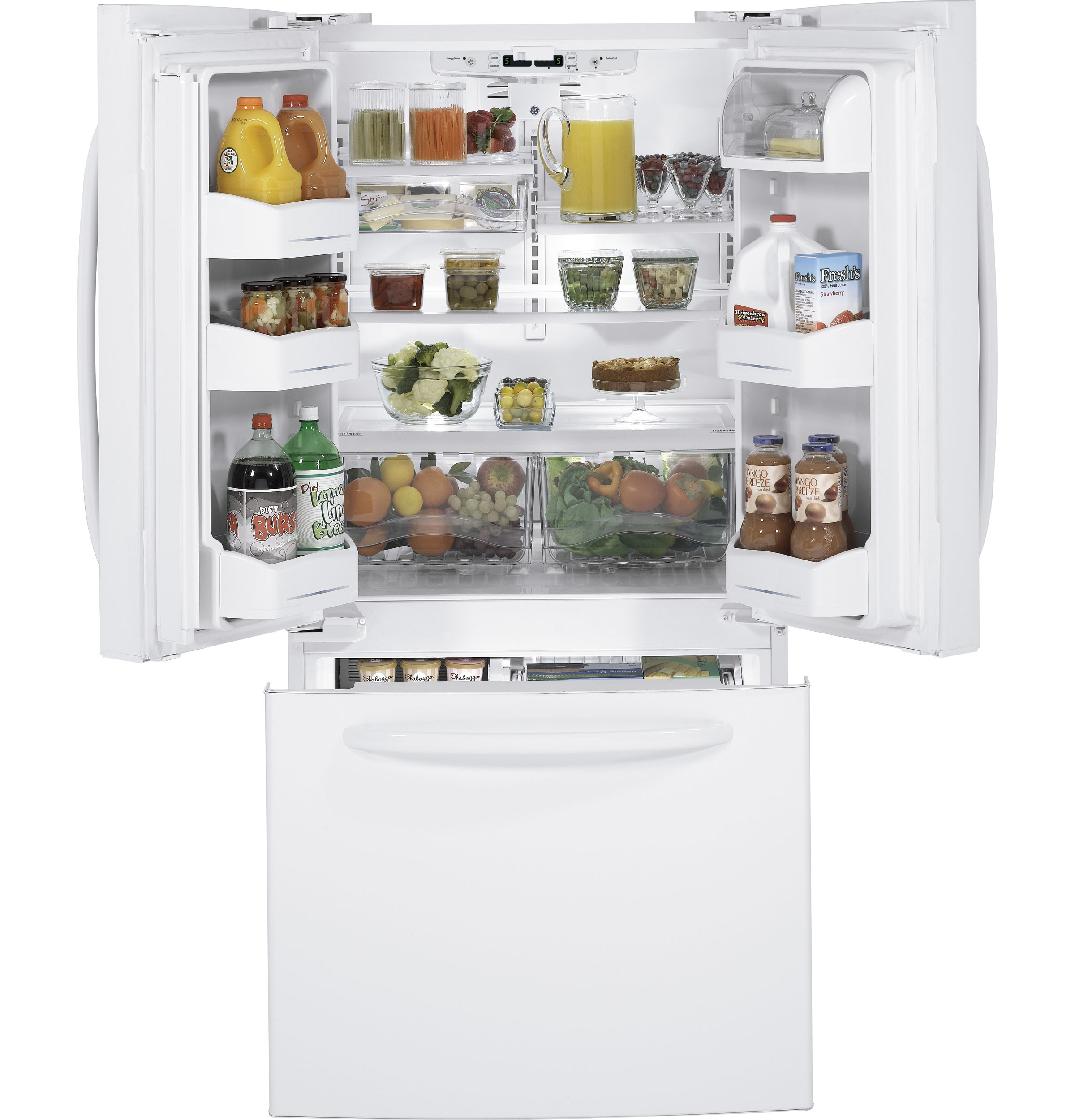 GE ENERGY STAR 22 0 Cu Ft French Door Refrigerator