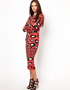 Image 1 ofGlamorous Midi Dress In Oversized Animal Print