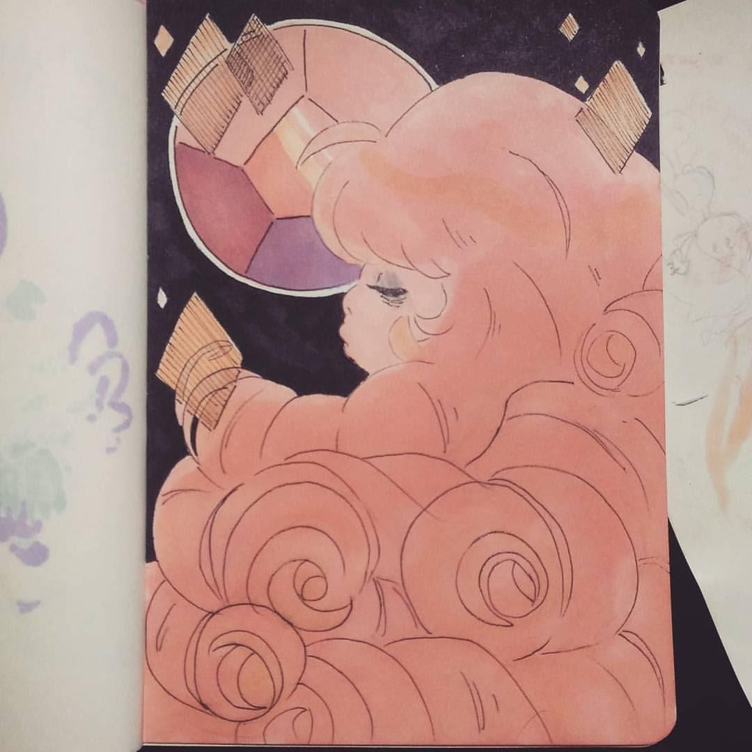 Inktober day 6, rose 🌹🌌
