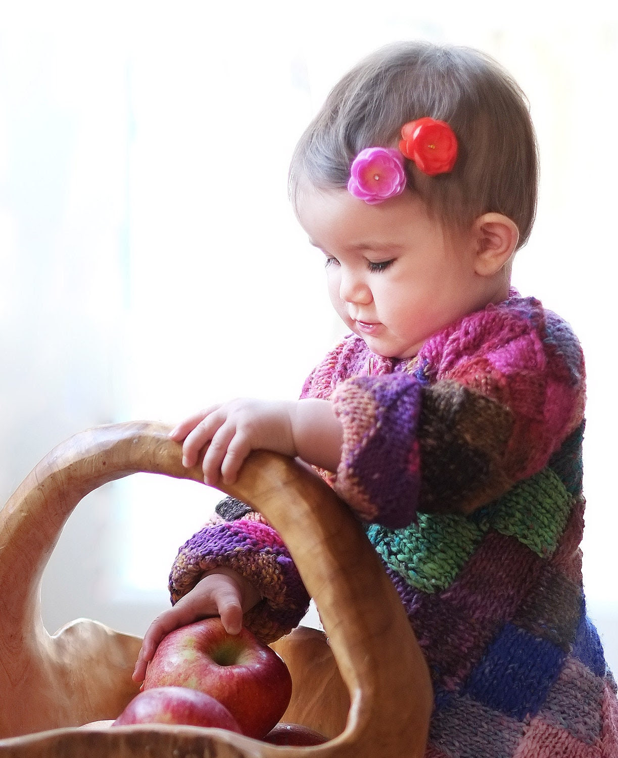 Colors of Rainbow Patch Heart Button Toddler Baby Girl Coat Sweater - 1 - 2 years old
