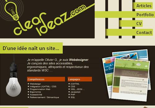 40 diseños web muy creativos - clear ideaz