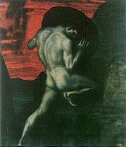 Sísifo en el Averno, por Franz von Stuck