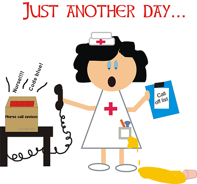 stressed nurse clipart - Clipground