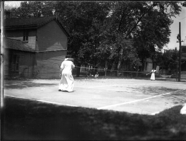 Tennis match at Oxford College May Day celebration 1912