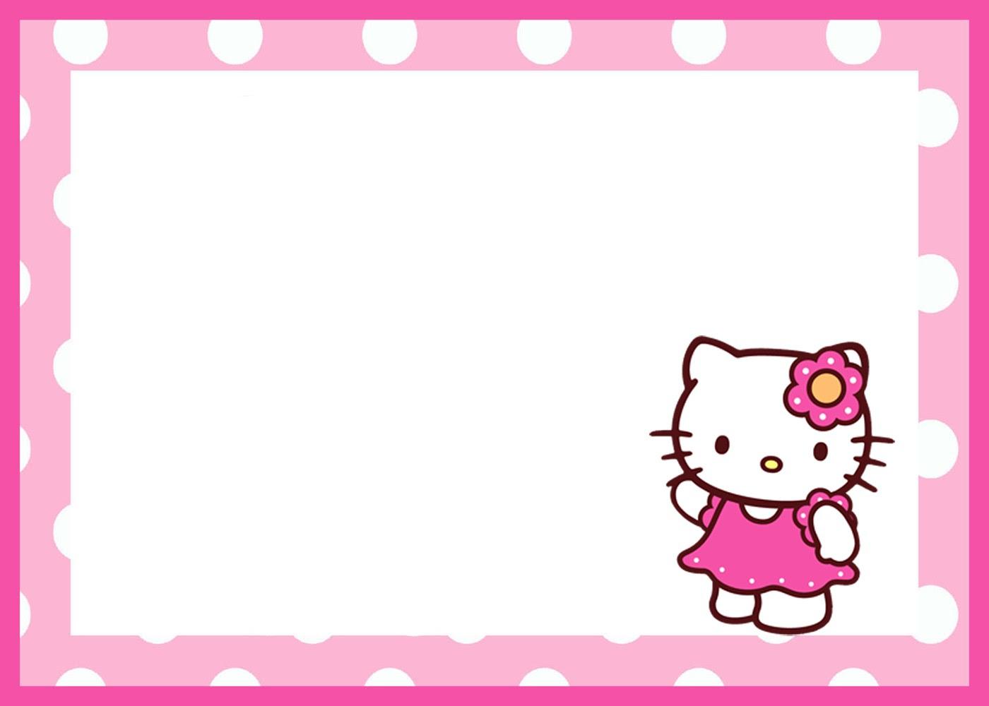 Hello Kitty Birthday Invitation Template