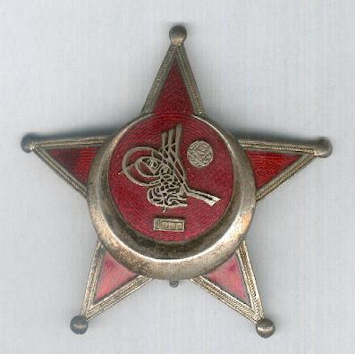 Medalla Otomano Guerra (Arpa Madalyasi), a menudo conocida como la Estrella de Gallipoli o hierro de la Media Luna (Eiserner Halbmond), esmaltado, raro ejemplo de fabricación austriaca excepcionalmente fino