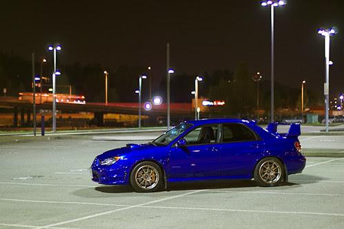 Subaru at night