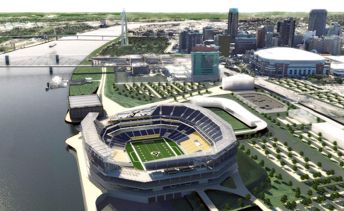New renderings show proposed St. Louis riverfront NFL stadium | NFL | stltoday.com