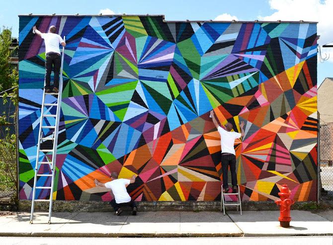 Murales Coloridos Abstractos