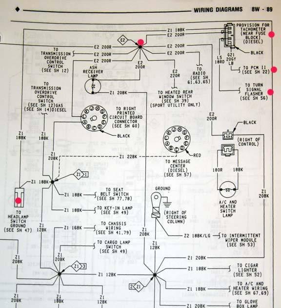 Wiring Diagram 1993 Dodge W200 - Complete Wiring Schemas