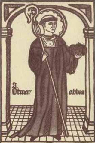 Saint Otmar, Abbé de Saint-Gall en Suisse († 759)