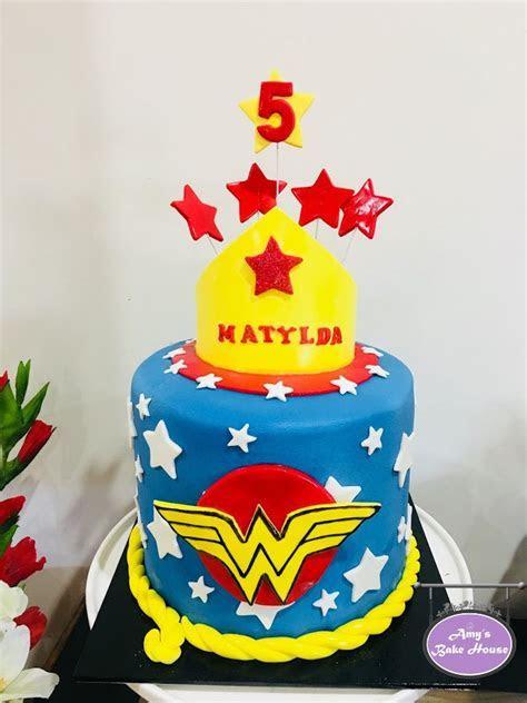 Wonder woman 5th Birthday Cake   Amy's Bake House